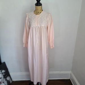 Vintage 80s Pale Pink Miss Dior Night Gown